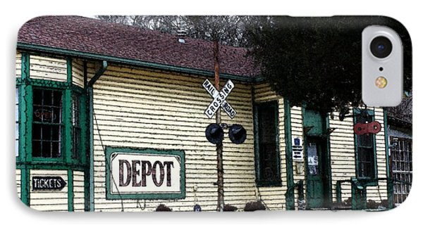 IPhone Case featuring the photograph Jefferson Depot by Ellen O'Reilly
