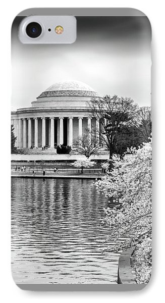 Jefferson Memorial Cherry Blosum Time IPhone Case by Paul Seymour