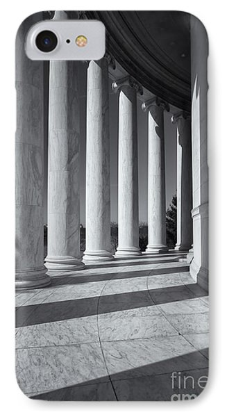 Jefferson Memorial Columns And Shadows Phone Case by Clarence Holmes