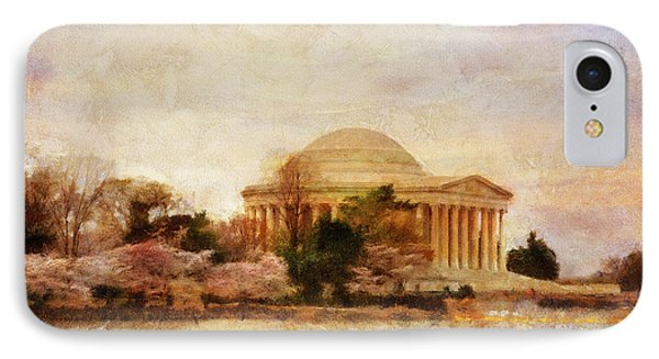Jefferson Memorial iPhone 7 Case - Jefferson Memorial Just Past Dawn by Lois Bryan