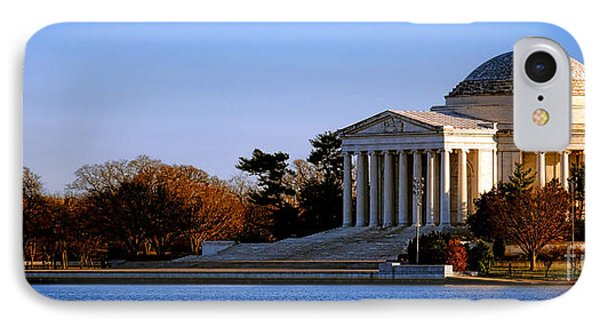 Jefferson Memorial iPhone 7 Case - Jefferson Memorial Sunset by Olivier Le Queinec