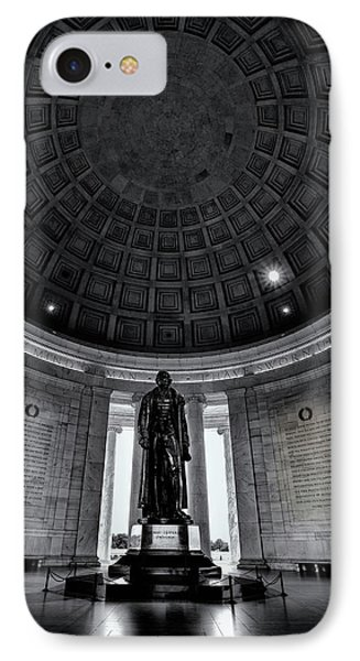 Jefferson Memorial iPhone 7 Case - Jefferson Statue In The Memorial by Andrew Soundarajan