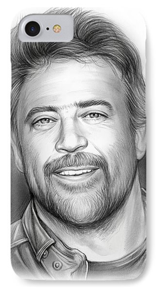 Jeffrey Dean Morgan IPhone Case by Greg Joens