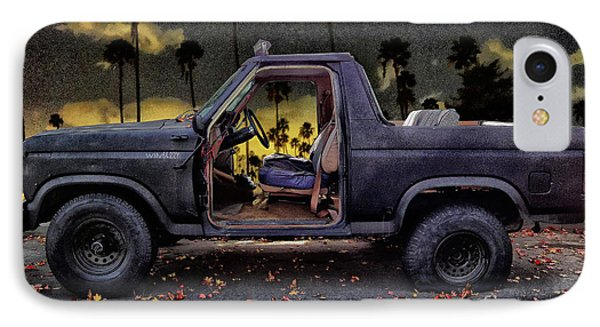 Jeff's Jeep And The Fallen Leaves Phone Case by Bob Winberry