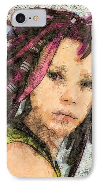 Jehanne IPhone Case by Jutta Maria Pusl