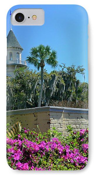 IPhone Case featuring the photograph Jekyll Island Club Hotel And Azaleas by Bruce Gourley