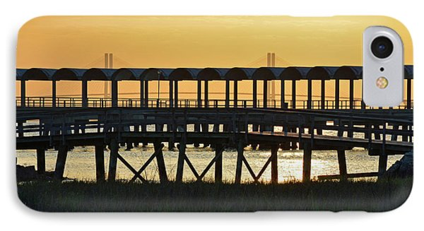 Jekyll Island Pier At Sunset IPhone Case by Bruce Gourley
