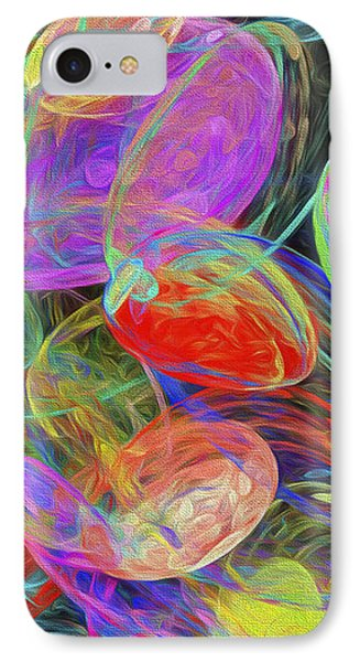 IPhone Case featuring the digital art Jelly Beans And Balloons Abstract by Andee Design