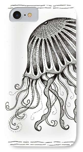 Jelly Fish IPhone Case by Stephanie Troxell