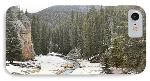 IPhone Case featuring the photograph Jemez Mountains Forest Stream by Andrea Hazel Ihlefeld