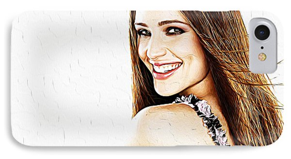 Jennifer Garner IPhone 7 Case by Iguanna Espinosa