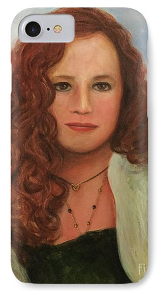 IPhone Case featuring the painting Jennifer by Randol Burns
