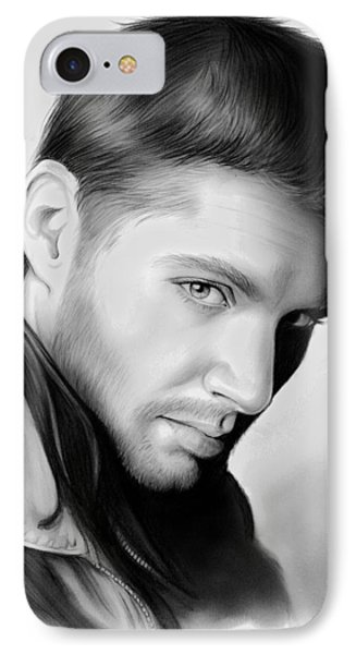 Jensen Ackles IPhone Case by Greg Joens