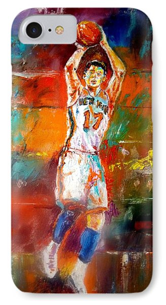 Jeremy Lin New York Knicks Phone Case by Leland Castro