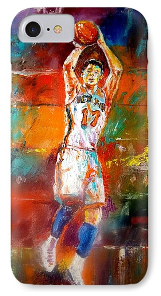 Jeremy Lin New York Knicks IPhone Case by Leland Castro