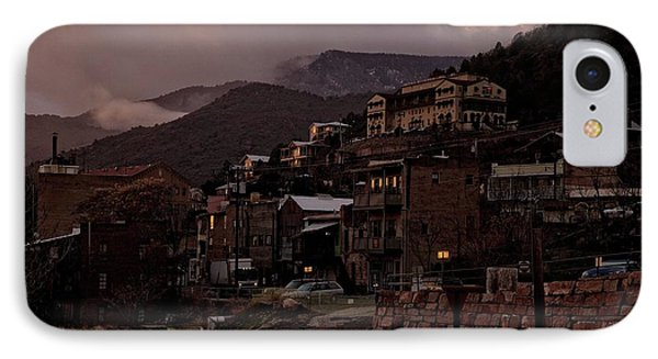 Jerome On The Edge Of Sunrise IPhone Case by Ron Chilston