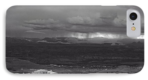 IPhone Case featuring the photograph Jerome State Park With Sedona Storm by Ron Chilston