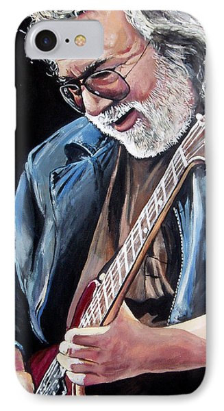 Jerry Garcia - The Grateful Dead IPhone Case by Tom Carlton