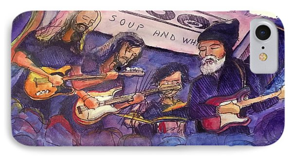 IPhone Case featuring the painting Jerry Joseph And The Jackmormons by David Sockrider
