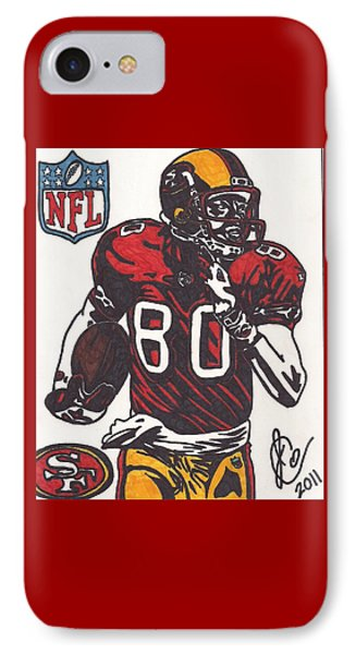 IPhone Case featuring the drawing Jerry Rice by Jeremiah Colley