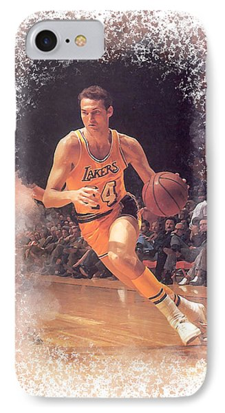 Jerry West IPhone Case by Karl Knox