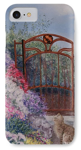 IPhone Case featuring the painting Jerrys Garden by Stanza Widen