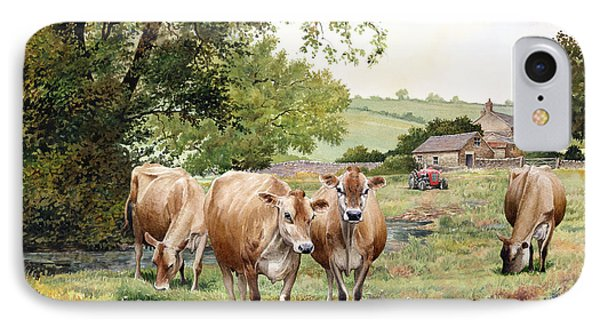 Jersey Cows Phone Case by Anthony Forster