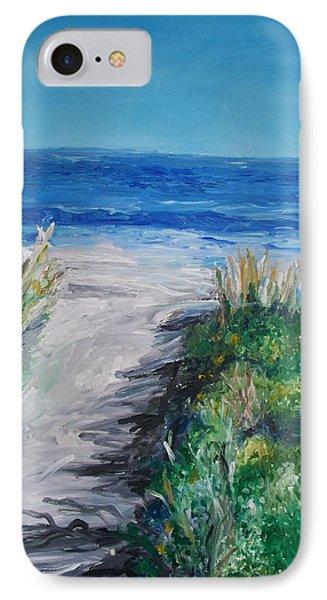 Jersey Shore Dunes  IPhone Case by Eric  Schiabor