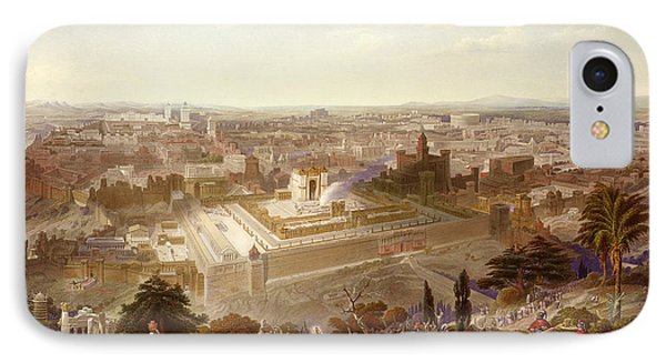 Jerusalem In Her Grandeur IPhone Case by Henry Courtney Selous