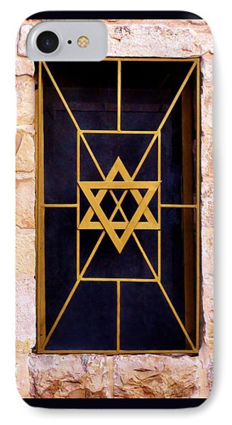 Jerusalem Window On Mt. Zion Israel IPhone Case by Brian Tada