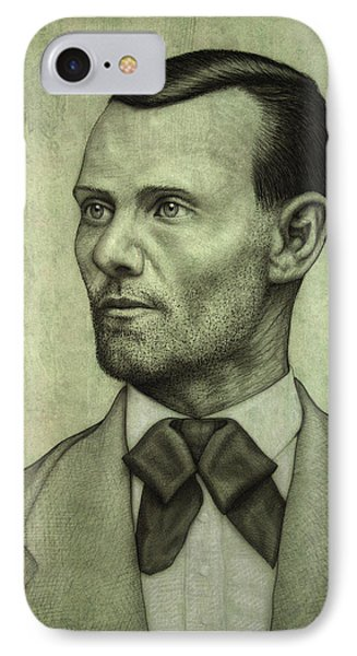 Jesse James IPhone Case by James W Johnson