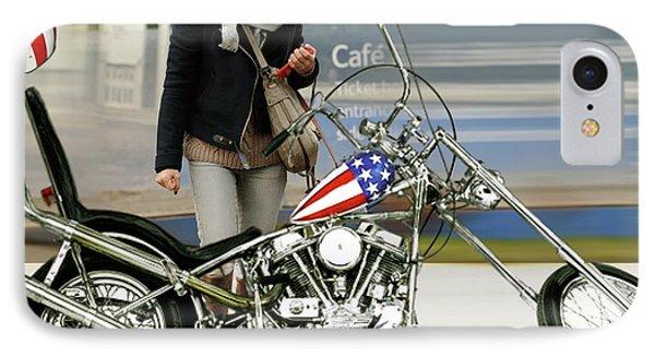 Jessica Alba iPhone 7 Case - Jessica Alba, Captain America, Easy Rider by Thomas Pollart