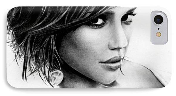 Jessica Alba iPhone 7 Case - Jessica Alba  by Rick Fortson