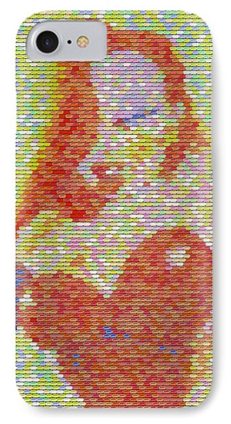 IPhone Case featuring the mixed media Jessica Rabbit Pez Mosaic by Paul Van Scott