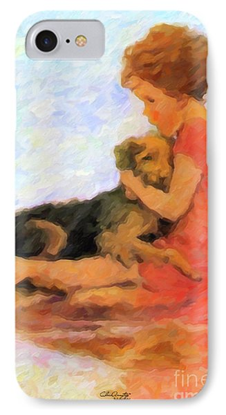 Jessie And Me IPhone Case by Chris Armytage