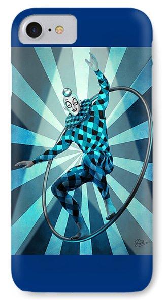 Jester Blue  IPhone Case by Quim Abella