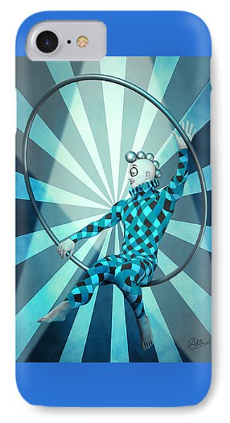 Jester Boy Blue IPhone Case by Quim Abella