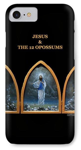Jesus And The 12 Opossums Phone Case by Larry Preston