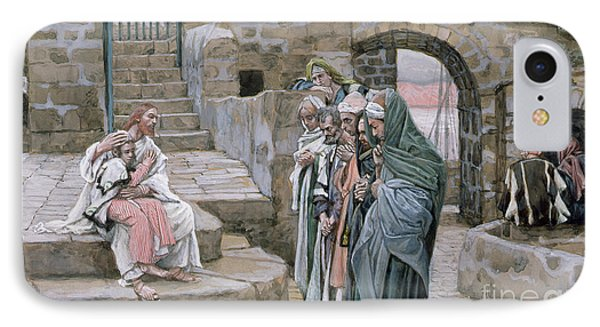 Jesus And The Little Child Phone Case by Tissot