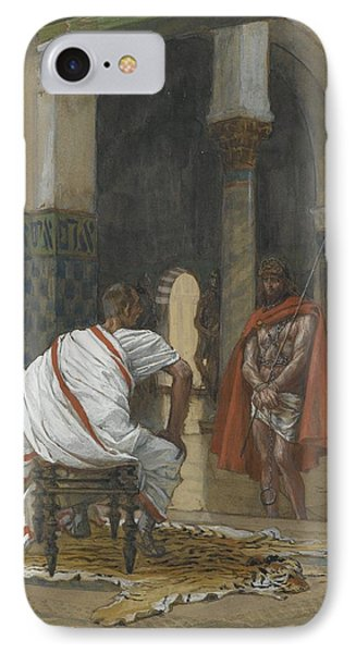 Jesus Before Pilate IPhone Case by Tissot