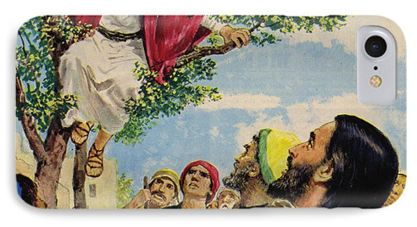Jesus Christ Forgives A Thief IPhone Case by Clive Uptton