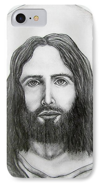 IPhone Case featuring the drawing Jesus Christ by Michael  TMAD Finney