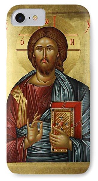 Jesus Christ Pantokrator Phone Case by Daniel Neculae