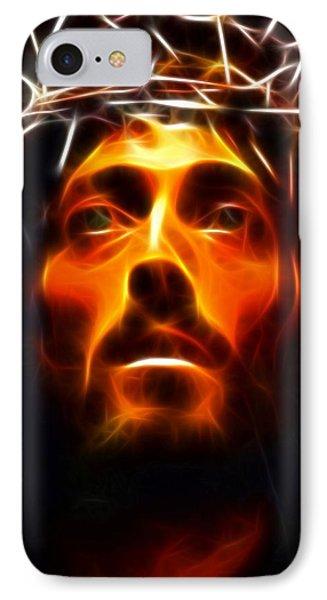 Jesus Christ The Savior Phone Case by Pamela Johnson