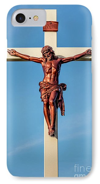 IPhone Case featuring the photograph Jesus Crucifix Against The Sky 3 by Gary Whitton