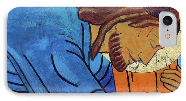 Jesus Falls Under The Cross IPhone Case by Sara Hayward