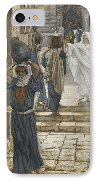 Jesus Forbids The Carrying Of Loads In The Forecourt Of The Temple Phone Case by Tissot
