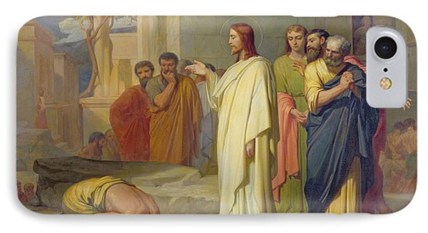 Jesus Healing The Leper Phone Case by Jean Marie Melchior Doze
