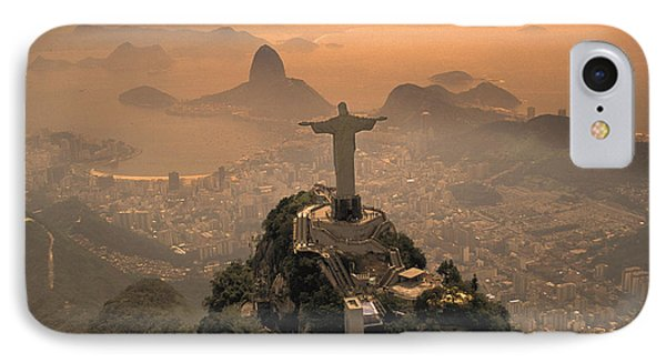 Jesus In Rio Phone Case by Christian Heeb