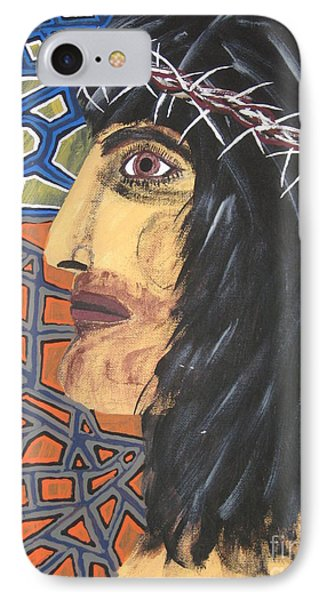 IPhone Case featuring the painting Jesus by Jeffrey Koss